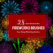 28种高清烟花、火花效果PS笔刷素材下载