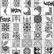 手绘古典贵族风格的经典印花图案PS笔刷素材下载