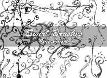 童趣涂鸦线条花纹图案Photoshop可爱印花笔刷