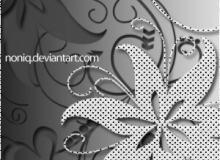漂亮的艺术花朵图案剪影PS笔刷下载
