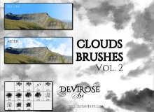 漂亮的高空云朵、白云、云层效果Photoshop笔刷素材下载