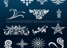 花纹图案、印花图形效果PS装饰性花纹笔刷素材