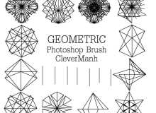 几何线条组合式花纹图案Photoshop笔刷免费下载