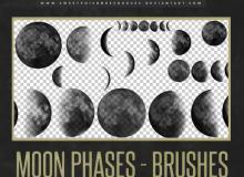 月食、月球、月亮Photoshop笔刷素材下载