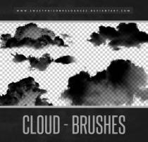 天空中的白云、云朵、云彩Photoshop云笔刷素材