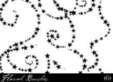 星星点缀线条图案PS装饰笔刷