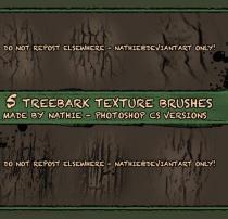 5种老树皮纹理效果Photoshop笔刷素材下载