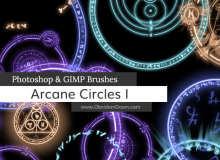 魔法光圈、魔法阵、神秘光芒阵法Photoshop笔刷素材下载