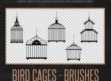 漂亮的鸟笼造型Photoshop装饰笔刷下载