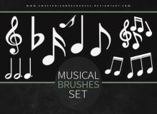 音符、音乐符号、乐符Photoshop音乐元素笔刷