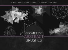 几何抽象三角形背景装饰图案PS笔刷素材下载