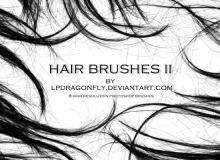 高清毛发、头发、发丝、长发、秀发素材PS笔刷下载