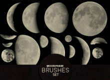月亮、月球、月食效果Photoshop笔刷素材下载