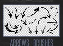 手绘涂鸦箭头标记符号图案Photoshop笔刷素材下载