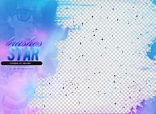 像素画星星图案、星空背景、亮晶晶星星效果Photoshop背景笔刷
