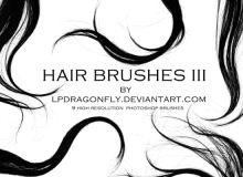 高清头发、毛发、发丝、长发套装素材PS笔刷下载