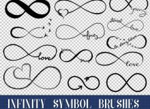 18种可爱的手绘无极限图案符号Photoshop笔刷素材下载