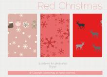 3种圣诞节可爱卡通背景Photoshop填充图案文件底纹素材 .pat 下载