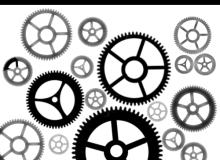 齿轮图形、机械齿轮Photoshop工业机械元素笔刷素材