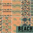 10款可以无缝拼接的沙滩图案夏日清凉图案背景Photoshop背景填充素材下载