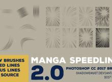 20种光线、光束绘画效果Photoshop笔刷素材下载