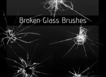 玻璃碎痕、玻璃撞击破碎纹理、冰层、透明塑料撞击纹理PS笔刷素材