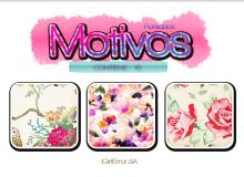 漂亮水彩鲜花图案Photoshop填充图案底纹素材.pat 免费下载