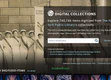 """豪迈的 """"纽约公共图书馆"""" 公开18万张历史照片、地图资料、信件图像免费下载"""