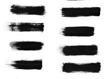 高清刷子涂痕笔迹效果Photoshop笔刷素材下载