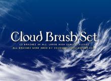 高空卷积云效果PS云朵笔刷素材下载