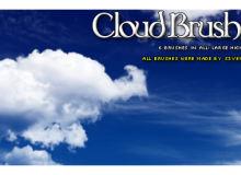 美丽的积状云朵Photoshop笔刷素材免费下载