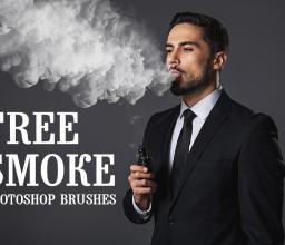 免费的烟雾效果、水蒸气、浓烟密布Photoshop笔刷素材下载