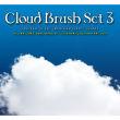 漂亮纯洁的天空中的白云云朵PS笔刷素材下载