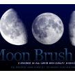 6种月食变化效果素材、上弦月、下弦月、满月、新月、残月效果PS笔刷素材下载