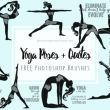 17种女性瑜伽姿势卡通造型图Photoshop笔刷素材下载