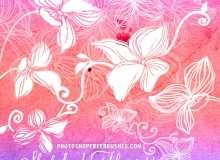 20种免费的手绘鲜花花朵图案Photoshop花纹笔刷下载