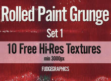 10种高清油漆印刷后纹路效果Photoshop油墨纹理笔刷(JPG图片格式素材)