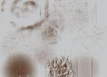 墙面痕迹、墙面磨砂纹理图案PS笔刷下载