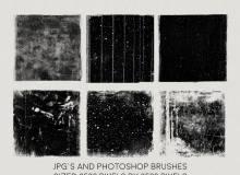 高清痕迹纹理、墙面裂纹图案PS笔刷下载