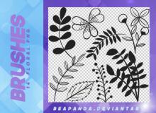 14种漂亮的优雅植物印花图案PS笔刷下载