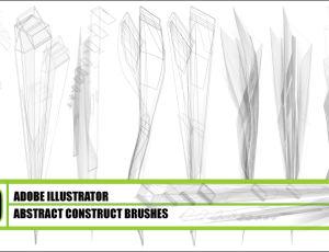 10种抽象构造型Illustrator笔刷素材 – Ai画笔下载
