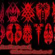 超酷的部落纹身、纹饰图案Photoshop笔刷下载