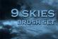 9种天空效果云朵背景Photoshop笔刷素材下载