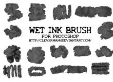 水墨、水彩痕迹纹理素材PS笔刷下载