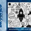 32种童趣科学少年涂鸦PS照片美图装扮笔刷