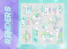 12种手绘水晶、钻石图形之韩国笔刷免费下载(PNG免扣图透明格式)
