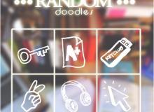 手绘钥匙、U盘、耳机、胜利手势、箭头鼠标PS笔刷下载
