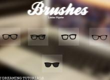 童趣黑框眼镜装饰PS可爱笔刷下载