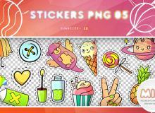 照片美化装饰贴纸饰品图案之韩国笔刷风格下载(PNG免扣图透明格式)