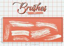 钢笔、细铅笔划痕、轨迹、笔迹纹理PS笔刷下载